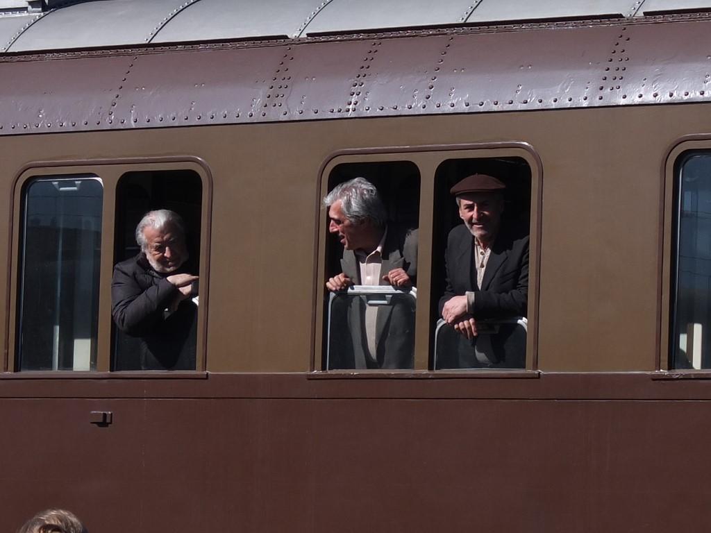 Le riprese di Pupi Avati: il treno degli emigranti in partenza dal Sud verso il Nord Italia
