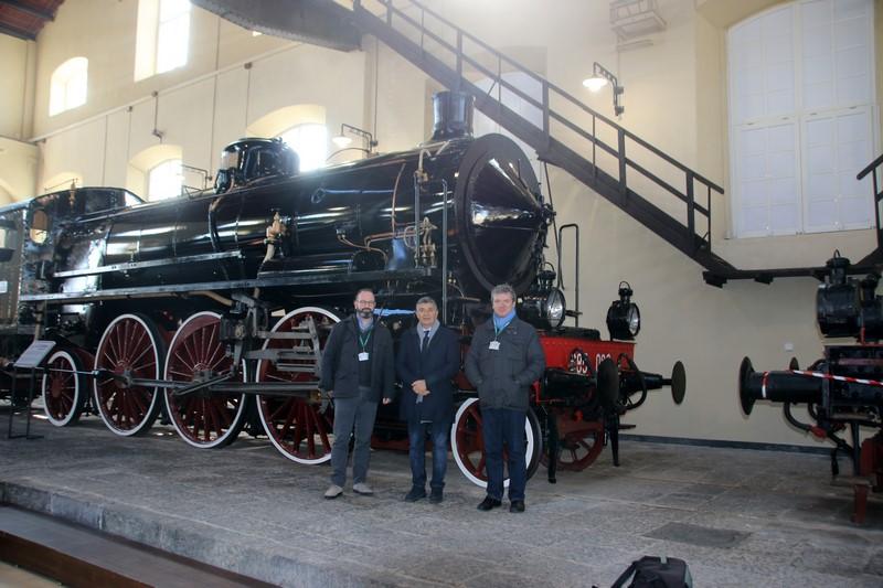 Il Presidente Ambrogio Mortarino in visita ufficiale al Museo di Pietrarsa