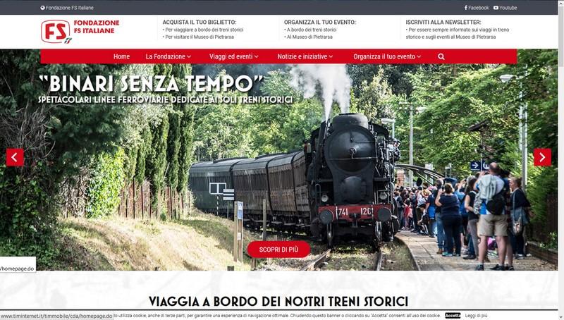 Claudio Cleri e il nuovo sito di Fondazione FS