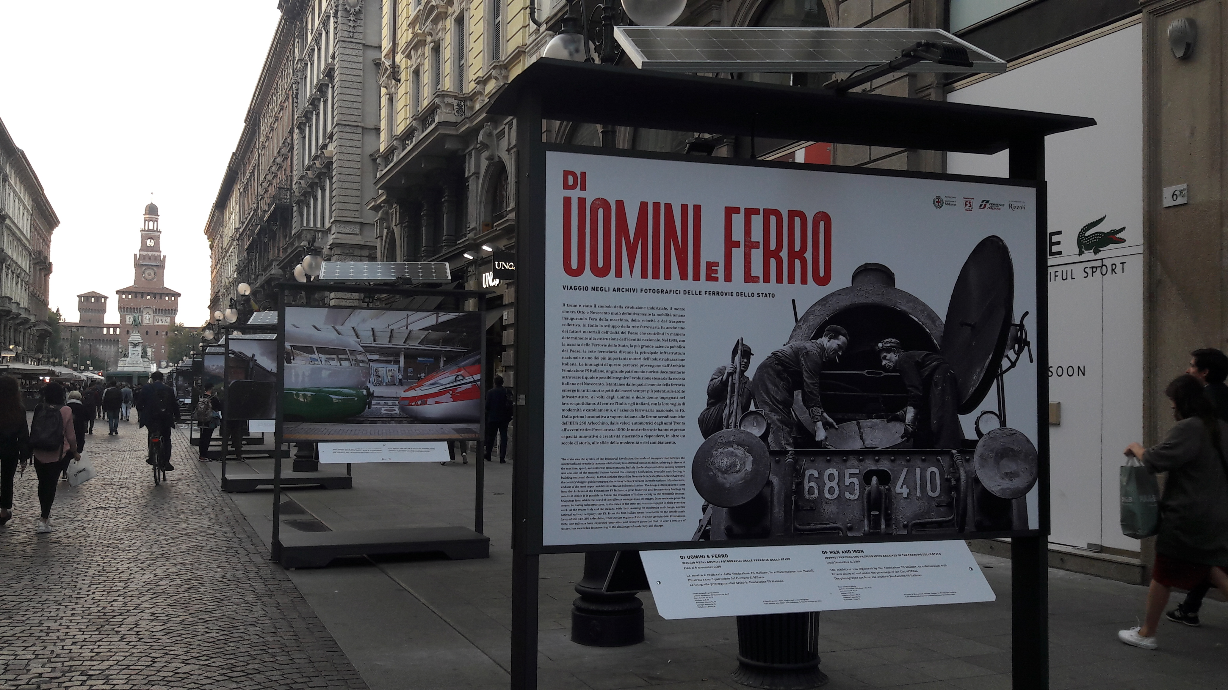 """Presentazione mostra fotografica """"Di uomini e ferro"""" di Fondazione FS"""
