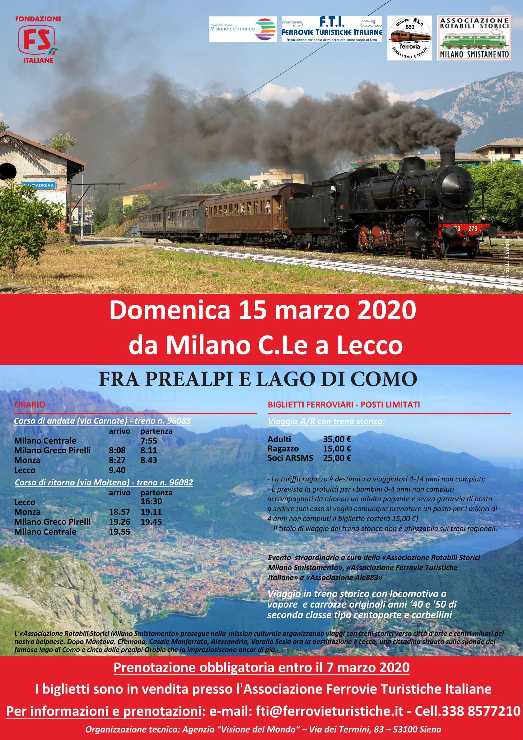 Treno storico a vapore domenica 15 marzo 2020... non mancate!!!