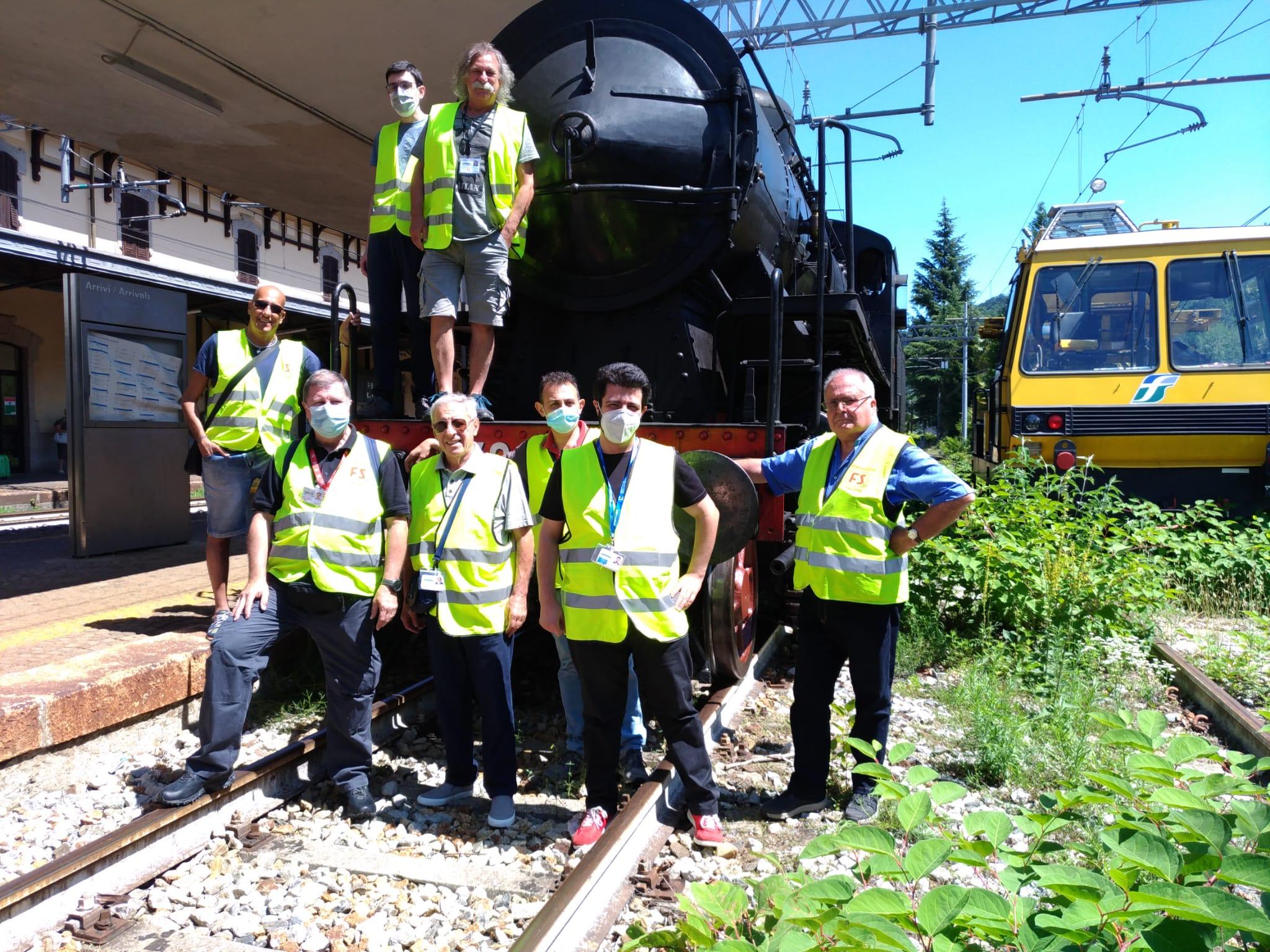 Treno Storico Milano C.le - Stresa - Squadra Operativa ARSMS in servizio