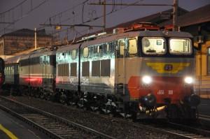 2 Dicembre 2012 - E 656.001 in partenza da Bergamo per Trento